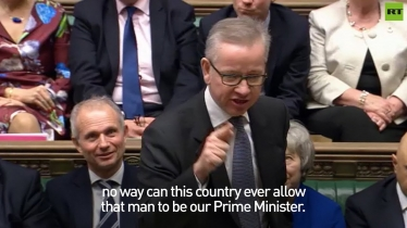 Embedded thumbnail for Michael Gove takes apart Jeremy Corbyn in Parliament speech